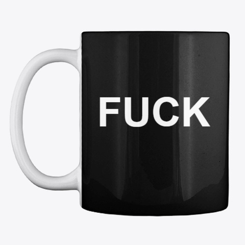 F#Ck Var Coffee Mug (Fully Black) Black T-Shirt Front
