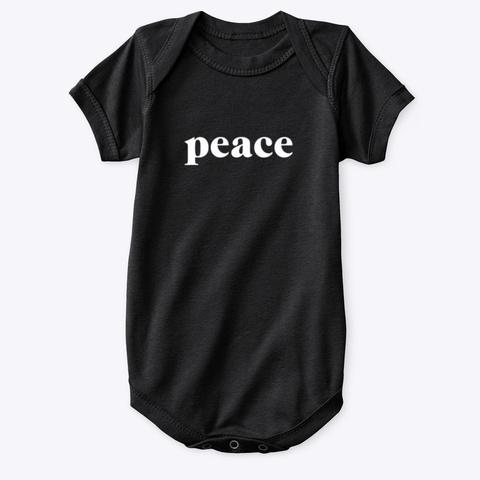 Onesie: Peace Black T-Shirt Front