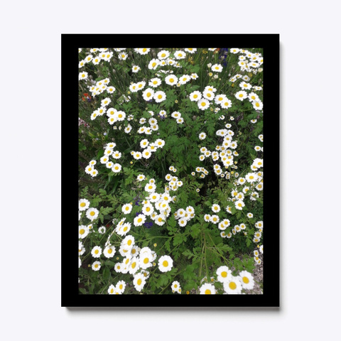 Wall Art Canvas Print Garden Flower  Black T-Shirt Front