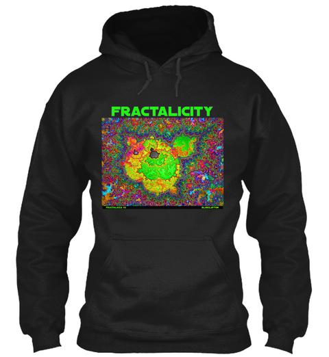 Fractalicity  Black T-Shirt Front