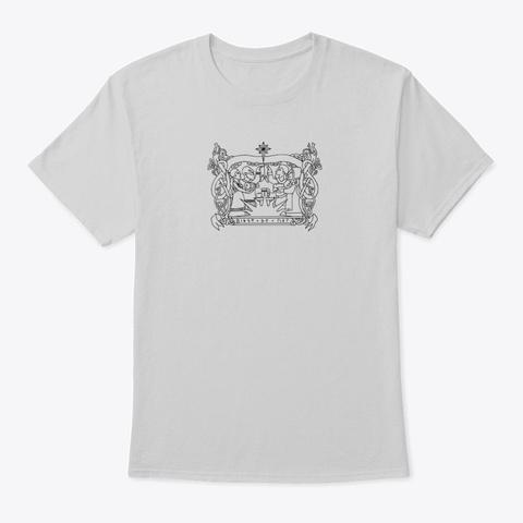 Front Design Only Light Steel T-Shirt Front