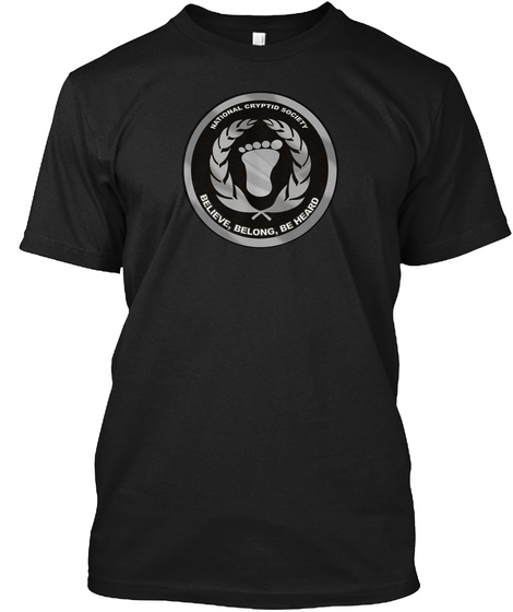 National Cryptic Society Believe, Belong, Be Heard Black T-Shirt Front
