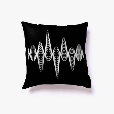 Indoor Pillow: Inspiration Black T-Shirt Front
