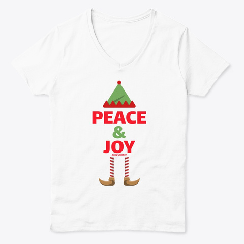 Peace &Amp; Joy Lucy Junkie White  T-Shirt Front