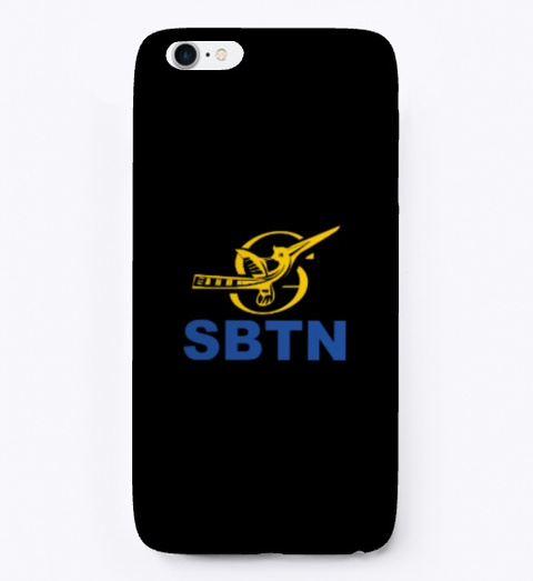 Sbtn Merch Shop Black T-Shirt Front