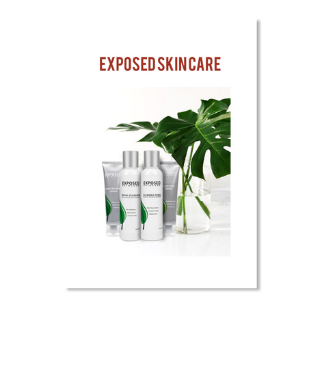 Exposed Skin Care White Sticker Front