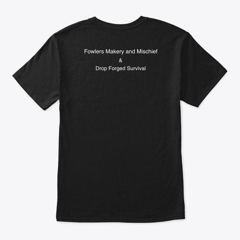 "30 Day Survival Challenge ""That's Cute""  Black T-Shirt Back"
