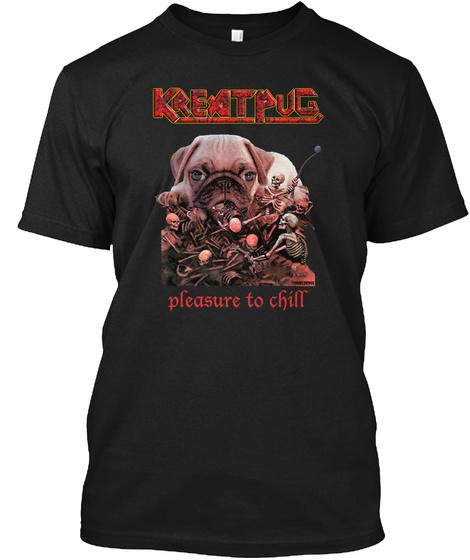 Kreatpug Black T-Shirt Front