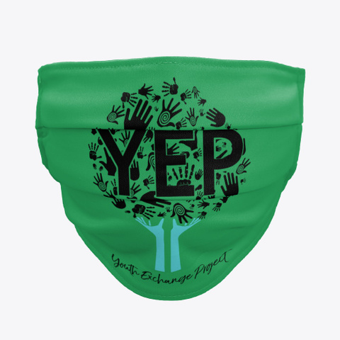 Y.E.P.   Face Mask Green T-Shirt Front