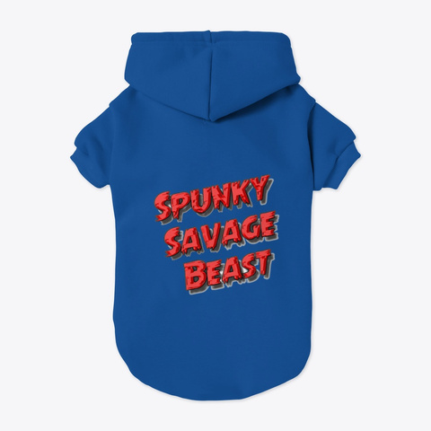 Spunky Savage Beast Blue T-Shirt Back