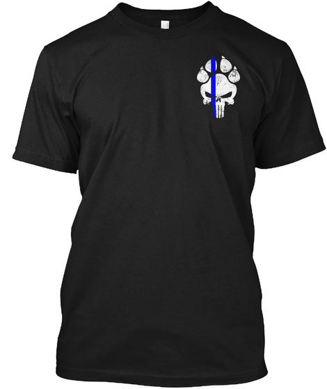 K9 Police Law Enforcement Blue Line Black T-Shirt Front