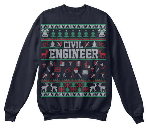 Civil Engineer French Navy T-Shirt Front