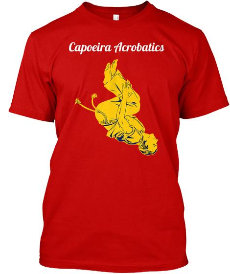 Capoeira Acrobatics Classic Red T-Shirt Front