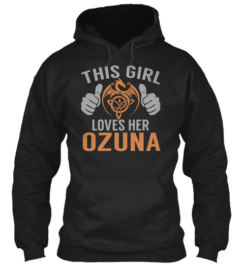 This Girl Loves Her Ozuna Black T-Shirt Front