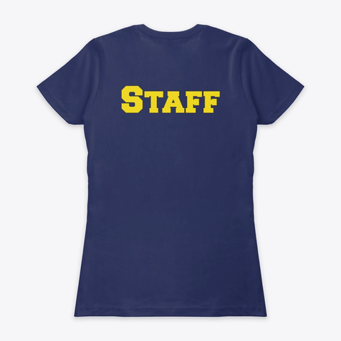 Staff & Honor Student Academy  Midnight Navy T-Shirt Back