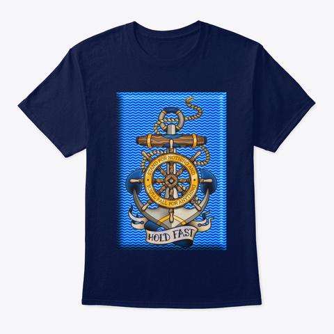 Nautical Sea Anchor Tee Shirt Navy Camiseta Front