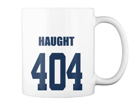 Haught 404 White Mug Back