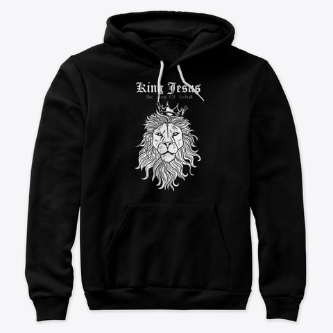 King Jesus The Lion Of Judah Black T-Shirt Front