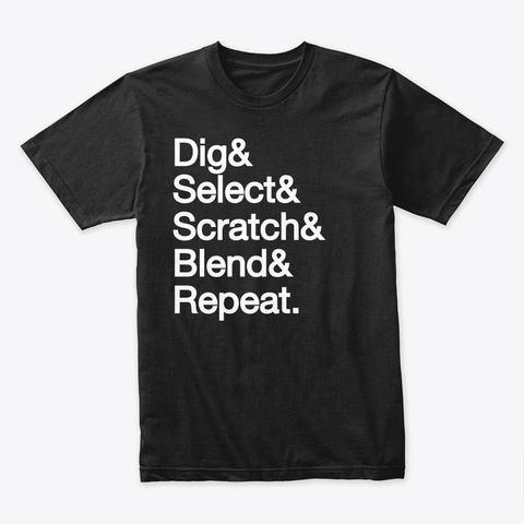 Know The Dee Jay Black T-Shirt Front