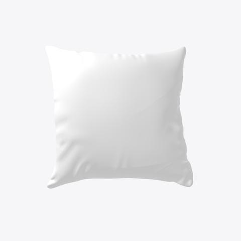 Tiger Pattern Pillow White T-Shirt Back