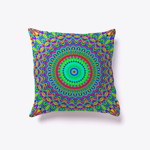 Neon Psychedelic Groovy Rainbow Mandala  Standard T-Shirt Back