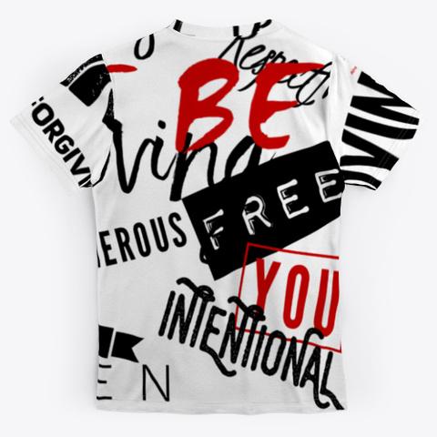 Be Human Happy Conscious Responsible Standard T-Shirt Back