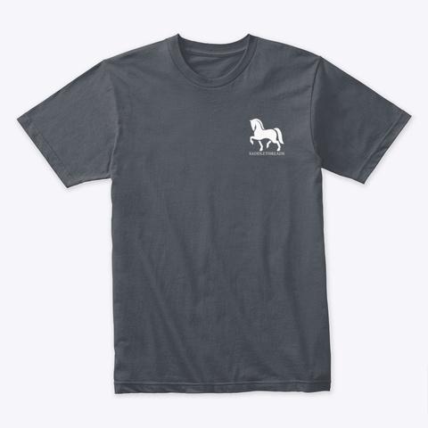 Christmas Horse Snow Globe Heavy Metal T-Shirt Front