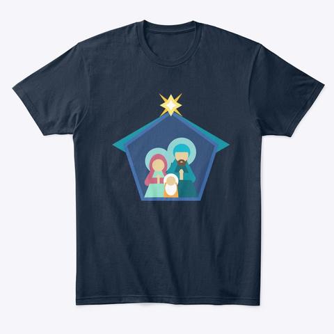 Christmas Story Scene New Navy T-Shirt Front