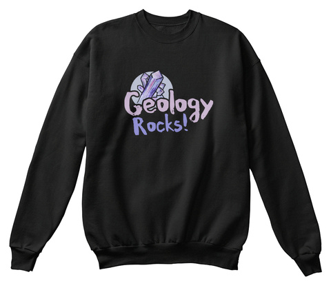Geology Rocks Jet Black T-Shirt Front