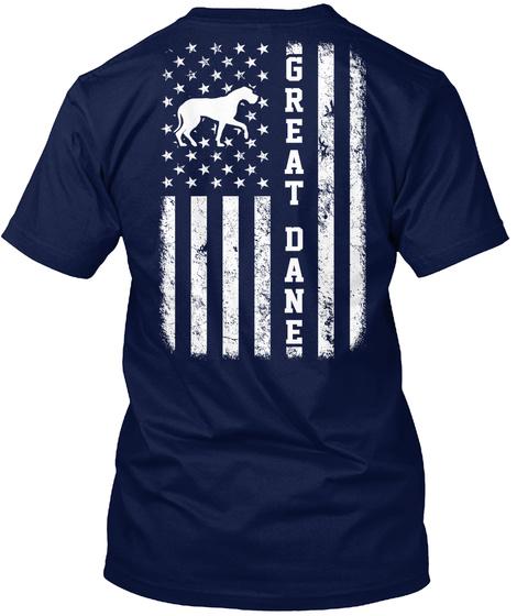 Great Dane Navy T-Shirt Back