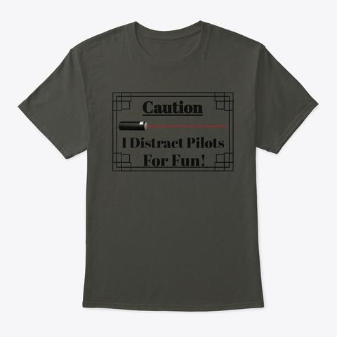 Caution Laser Smoke Gray T-Shirt Front