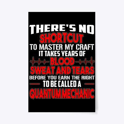 Quantum Mechanic Poster Gift Women Men Black T-Shirt Front