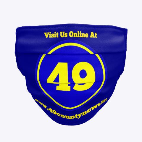 49 County News Fasemask Deep Navy T-Shirt Front