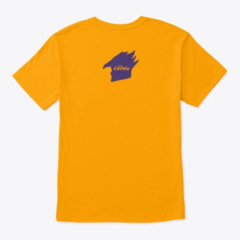 """Corinne Morgan Corbie"" Introvert Agenda Gold T-Shirt Back"