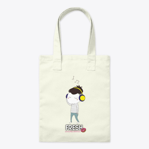 Bolsa Divertida Musica Y Radio Natural Tote Bag Front