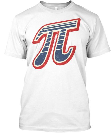 Vintage Pi Symbol White Kaos Front