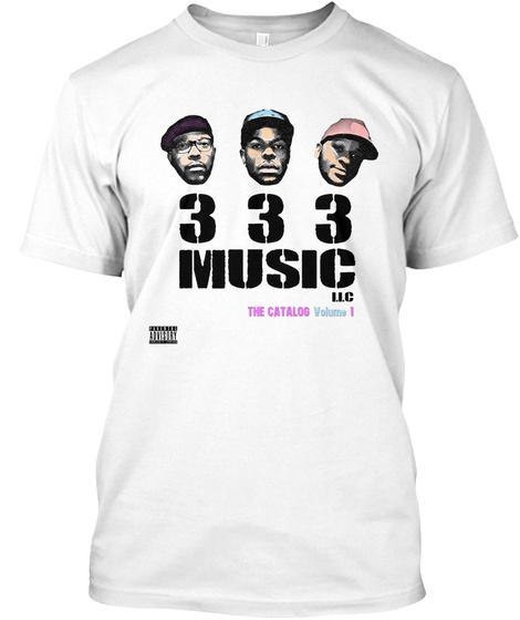 333 Music The Catalog Volume 1 White T-Shirt Front