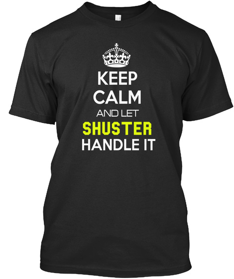 Shuster Black T-Shirt Front