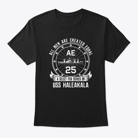 Uss Haleakala Ae25 Black T-Shirt Front