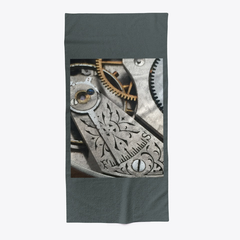 Gears Beach Towel Dark Grey T-Shirt Front