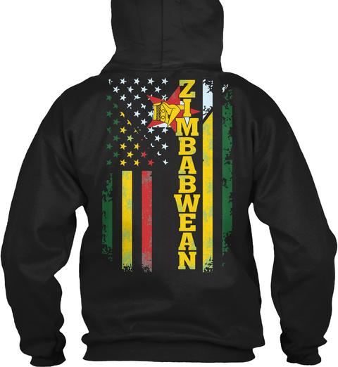 Zimbabwean Black T-Shirt Back