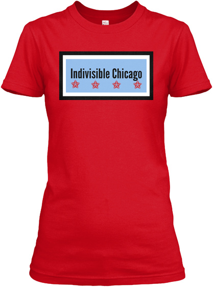Indivisible Chicago Red T-Shirt Front