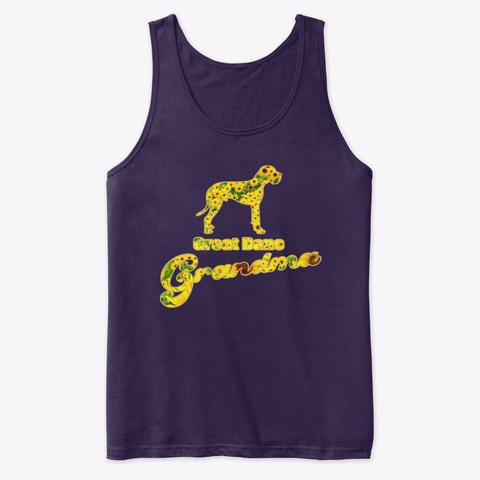 Great Dane Grandma Sunflower Gifts Team Purple T-Shirt Front
