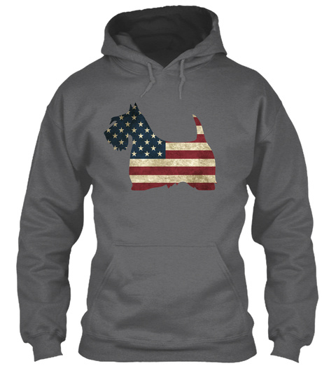 4th Of July With Scotties Dark Heather Sweatshirt Front