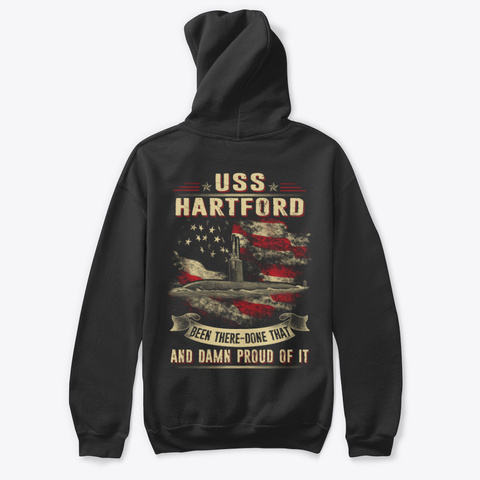 Uss Hartford (Ssn 768) T Shirts Black T-Shirt Back