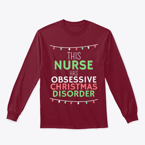 T Shirt Obsessive Christmas Disorder Cardinal Red T-Shirt Front