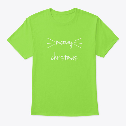 Christmas Gift For Cat Lovers Lime T-Shirt Front