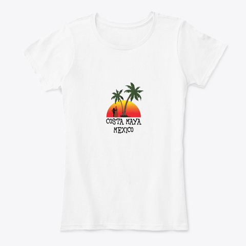 Costa Maya Mexico White T-Shirt Front