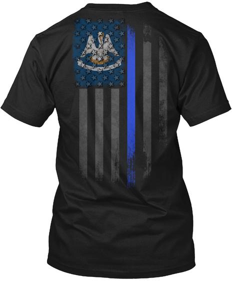 Louisiana Thin Blue Line Onyx Black T-Shirt Back