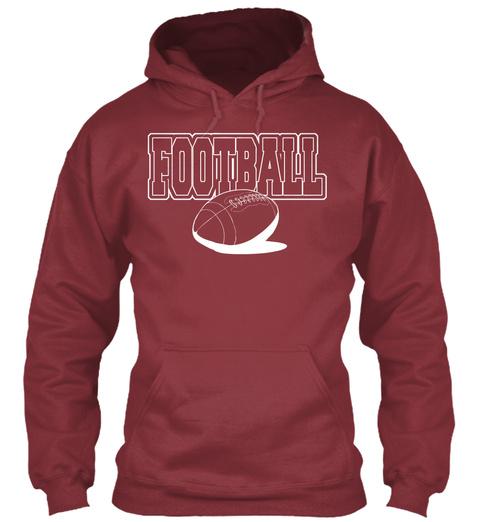 Football Maroon T-Shirt Front